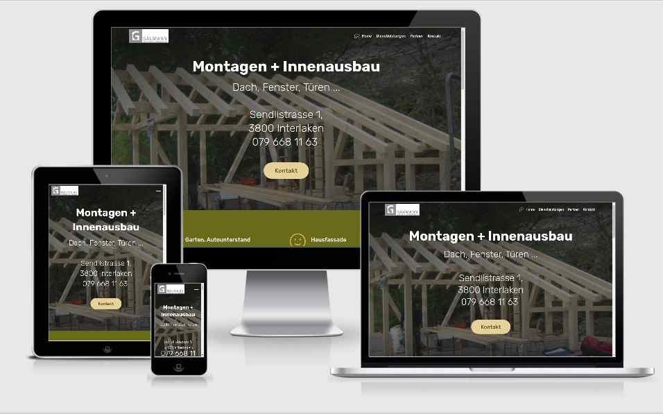 wartungsarme website für Handwerker
